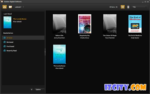 Adobe Digital Editions Home