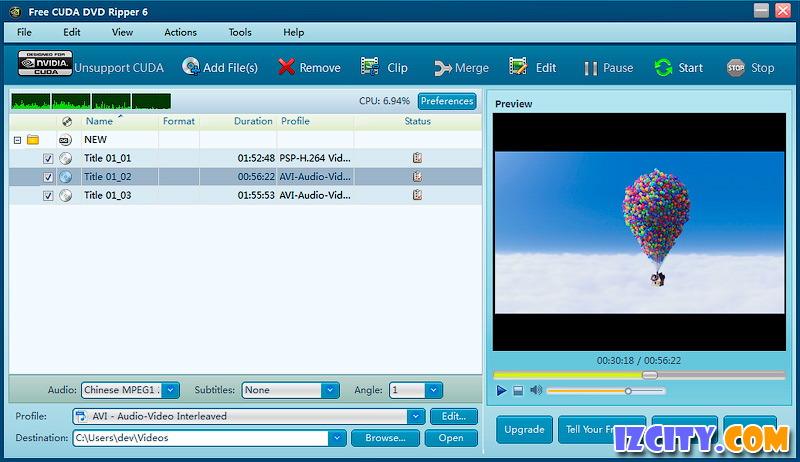 Free CUDA DVD Ripper
