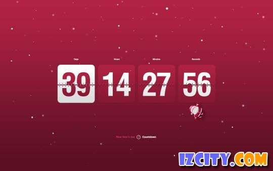 New Year Clock & Countdown Screensaver